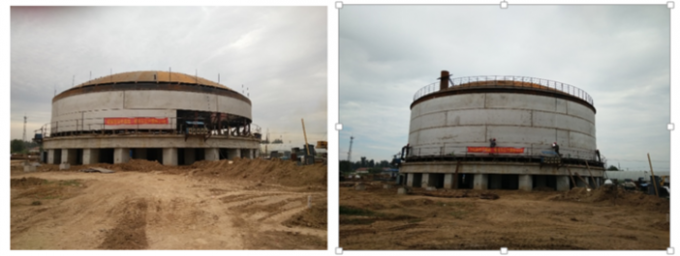 25KPa LNG Regasification Terminal Cryogenic Storage Tanks Dragon Crown Second Phase