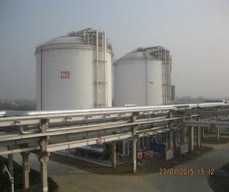 Vertical Cylindrical Cryogenic Ethylene Storage Tank Flat Bottom Double Walled Tank