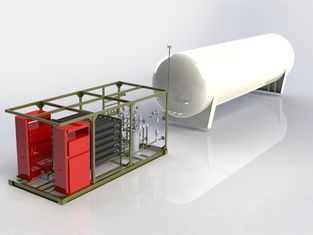 Mobile Skid Mounted LNG Plant Station Preassembled LNG Refueling System
