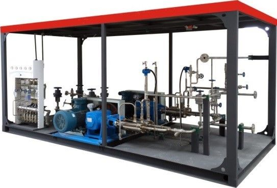 Skid Mounted Pump Cryogenic Equipment L-CNG High Pressure Plunger Pump supplier